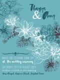 Épouser la carte de voeux florale, invitation Photos libres de droits