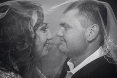 Épouser la photo en noir et blanc Images stock