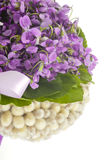 Épouser le bouquet violet Images stock