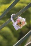 Épouser le cadenas, symbole de l'amour éternel Photos stock