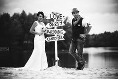 Épouser le label Photographie stock libre de droits