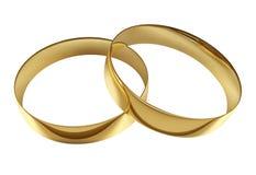 Épouser les anneaux d'or Images stock