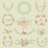Épouser les cadres floraux Photo stock