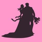 Épouser les couples affectueux Photos libres de droits