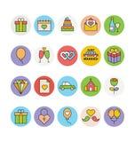 Épouser les icônes colorées 1 de vecteur Photos libres de droits