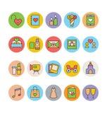 Épouser les icônes colorées 2 de vecteur Images libres de droits