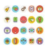 Épouser les icônes colorées 3 de vecteur Photographie stock libre de droits