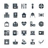 Épouser les icônes fraîches 3 de vecteur illustration stock