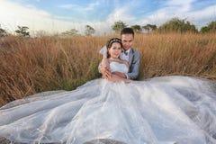 Épouser pré des photos d'Asiatique de jeunes mariés dans l'amour de concept de f Photos libres de droits