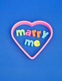 Épousez-moi. Images stock