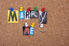 Épousez-moi Photo stock