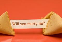 Épousez-moi biscuit de fortune 2 Images libres de droits