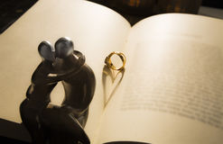 Épousez-moi - ombre de coeur Image libre de droits