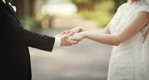 Épousez nouvellement les couples Photographie stock