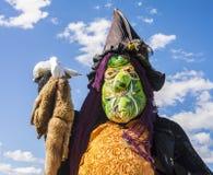 Épouvantail au festival annuel d'épouvantail, baie de Mahone, Cana Photographie stock libre de droits
