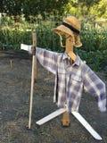 Épouvantail en bois Image stock