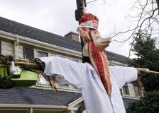 Épouvantail gros de lard de rue de Falmouth le Massachusetts Images libres de droits