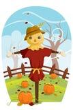 Épouvantail pour la moisson d'automne illustration de vecteur