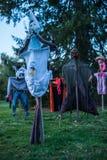Épouvantails effrayants Photographie stock libre de droits