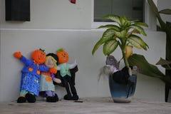 Épouvantails pour Halloween Image stock