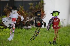 Épouvantails pour Halloween Photos libres de droits