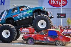Épreuve de force 02 de camion de monstre Photo libre de droits