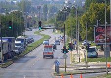 Épreuve sur route de recyclage, Varna Bulgarie Image libre de droits