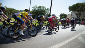 Épreuve sur route de Vuelta de España Cycle Photographie stock
