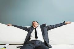 Épuisé, maladie, fatigué, soumise à une contrainte des concepts surchargés Bu Image stock
