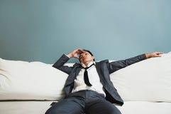 Épuisé, maladie, fatigué, soumise à une contrainte des concepts surchargés Bu Photographie stock