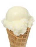 Épuisette de crème de glace à la vanille Images libres de droits