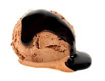 Épuisette de crême glacée de chocolat photos stock