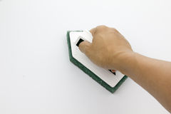 Épurateur de salle de bains sur le fond blanc Image stock