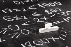 Équation mathématique Photographie stock libre de droits