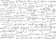 Équations de maths Photographie stock