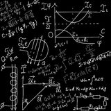 Équations et formules mathématiques illustration stock