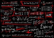 Équations mathématiques Photo stock