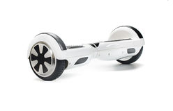 Équilibrage d'individu de double roue électrique Photo stock