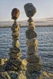 Équilibrage de roche Photo stock