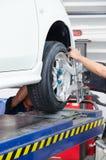 Équilibrage de support des roues Photo stock