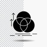 équilibre, cercle, alignement, mesure, icône de Glyph de la géométrie sur le fond transparent Ic?ne noire illustration stock