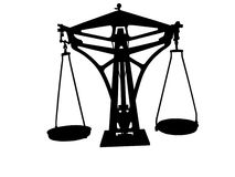 Équilibre d'échelles Images libres de droits