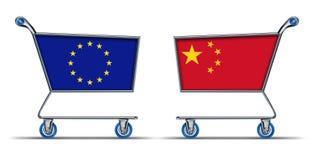 Équilibre d'embargo de déficit commercial commercial de porcelaine de l'Europe d'impo Photographie stock