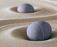 Équilibre de pierre de méditation de zen Photographie stock libre de droits