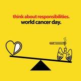 Équilibre de santé et de Lung Cancer Photo libre de droits