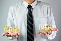 Équilibre entre le travail et la vie Image libre de droits