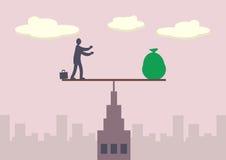 Équilibre financier Photo libre de droits