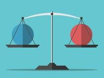 Équilibre pesant deux sphères Photographie stock