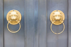 Équilibre principal de porte de lion Photo stock
