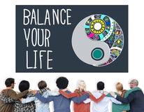 Équilibrez votre concept de la Travail-vie de stabilité de la vie Photographie stock